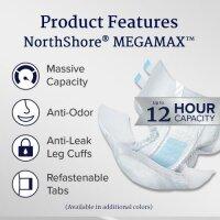 Northshore Megamax Windeln mit Folie rosa Gr M
